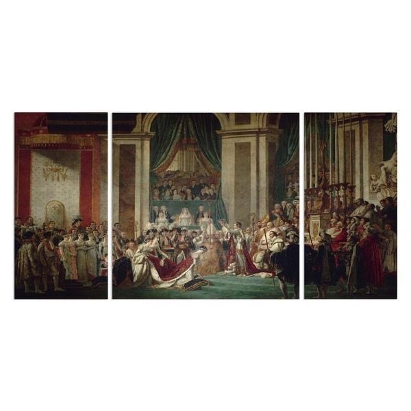 Wexford Home 'The Consecration of the Emperor Napoleon' Premium 3-piece Art Set