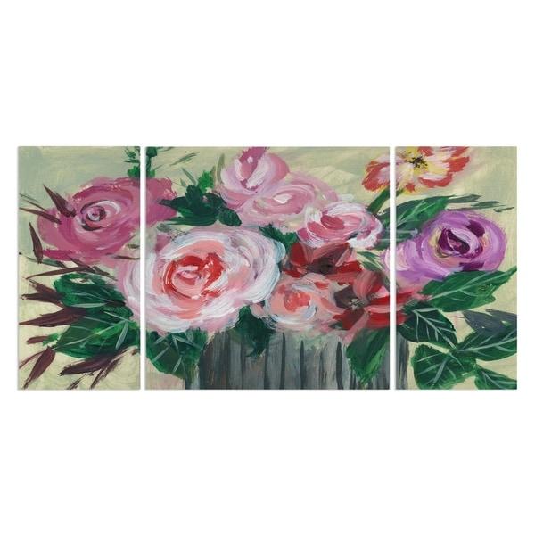 Wexford Home 'Fleur de Matin II' Premium Canvas Multi-piece Hand-wrapped Giclee Wall Art