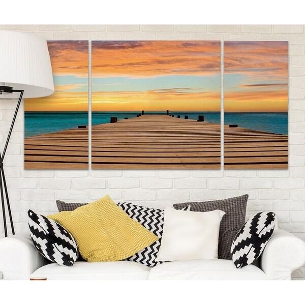 Wexford Home 'Aruba Sundown' 3-piece Wall Art Set