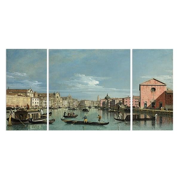 Wexford Home 'Venice the Grand Canal Facing Santa' Canvas Premium Multi Piece Art