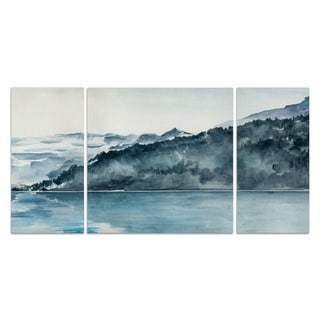 Wexford Home 'Winter Fjords II' Premium Canvas Multi-piece Hand-wrapped Giclee Wall Art