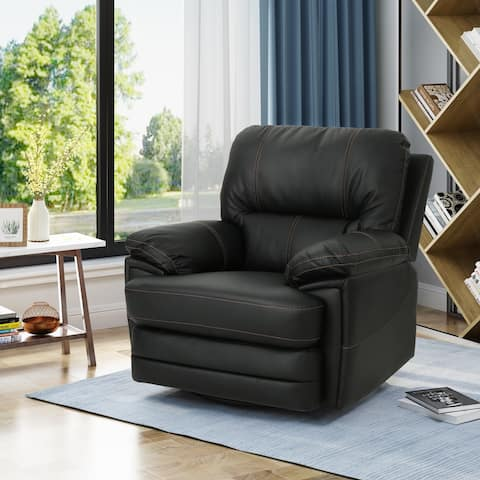 Christopher Knight Home Elodie Bubba PU Faux Leather Swivel Power Recliner