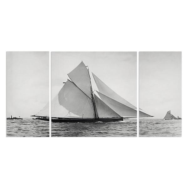 Wexford Home 'Sailing Yacht V' A Premium 3-piece Art Set