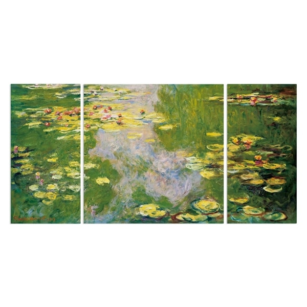 Wexford Home 'Water Lilies' Premium Multi-Piece Art