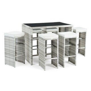 Quin 7pc Cafe Set in Grey by Sego Lily
