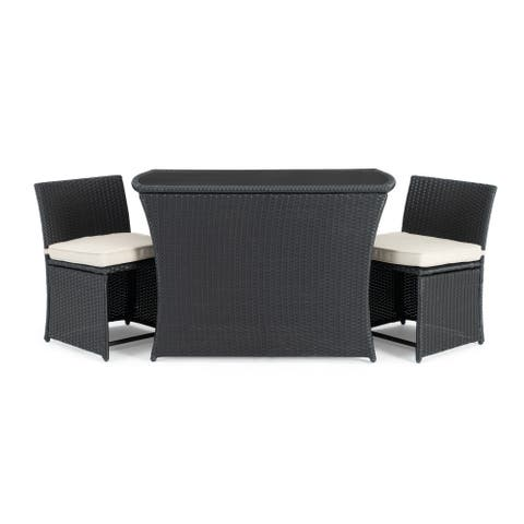 Exum 3pc Cafe Set in Black by Sego Lily