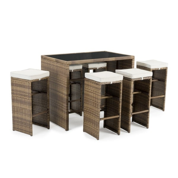 Quin 7pc Cafe Set in Brown by Sego Lily