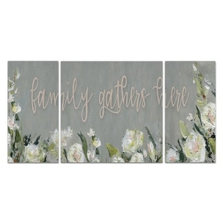 Wexford Home 'Family Gathers Here' Canvas Wall Art (Set of 3)