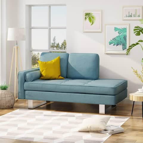 Typhaine Modern Chaise Loveseat by Christopher Knight Home