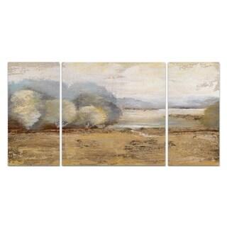 Wexford Home 'Misty Golden Morning' Premium 3-piece Art Set