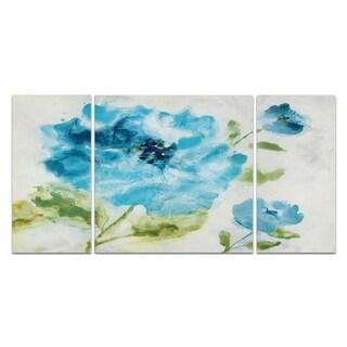 'Softly Blue' 3-piece Canvas Wall Art