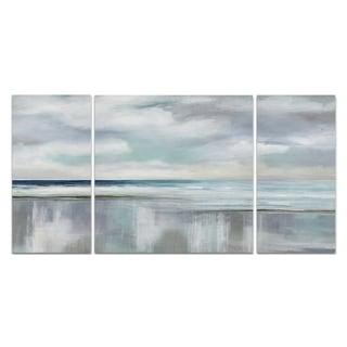 'Cyan Sunrise' Premium Multi-piece Art
