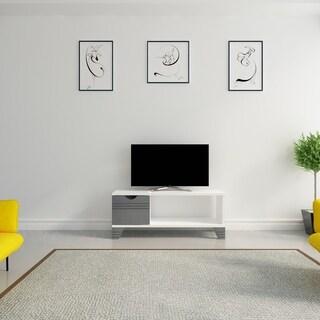 Decorotika Osco White Wood 42-inch TV Media Stand