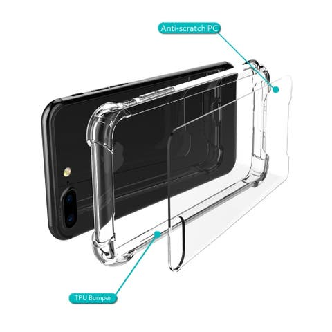 Compatible with iPhone 7 Plus case,Crystal Clear Shock-Absorb Hard PC+TPU bumper5.5 Inch
