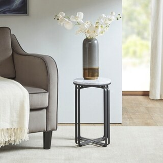"Madison Park Arlington Black Accent Table - 13""Dia. x 20""H"