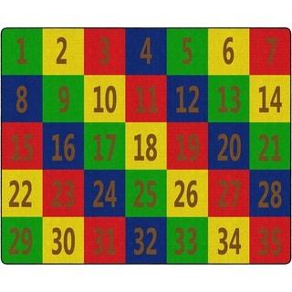 "Flagship Carpet Kids Nylon Number Seating School Classroom Rug, 35 Seats - 10'9"" x 13'2"" - 10'9"" x 13'2"""