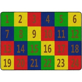 "Flagship Carpet Kids Nylon Number Seating School Classroom Rug, 24 Seats - 6' x 8'4"" - 6' x 8'4"""