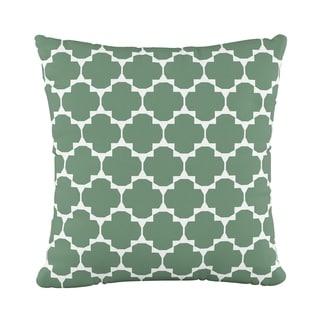 Skyline Furniture Fluffed Polyester 18 x 18 Pillow in Facet Green