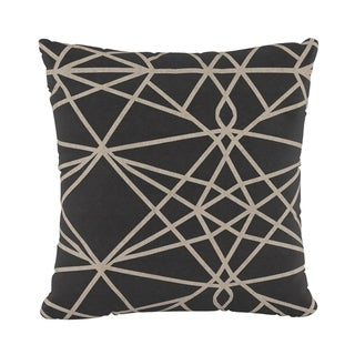 Skyline Furniture Fluffed Polyester 18 x 18 Pillow in Macrame Sepia