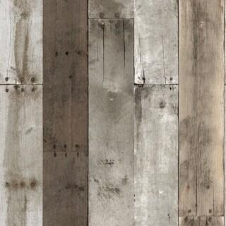 Repurposed Wood Weathered Peel and Stick Wallpaper