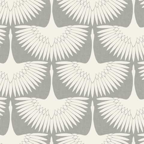 Genevieve Gorder Feather Flock Chalk Peel and Stick Wallpaper
