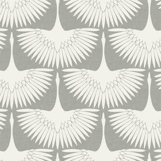 Genevieve Gorder Feather Flock Chalk Peel and Stick Wallpaper