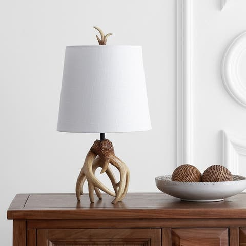 """Vermont 19"""" Antler Resin LED Table Lamp, Natural by JONATHAN Y"""