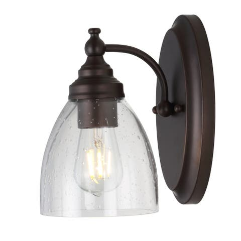 "Marais 5.5"" Metal/Glass LED Wall Sconce, Oil Rubbed Bronze by JONATHAN Y"