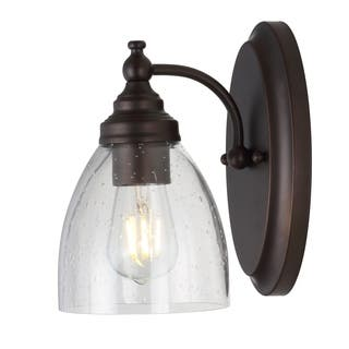 """Marais 5.5"""" Metal/Glass LED Wall Sconce, Oil Rubbed Bronze by JONATHAN Y"""