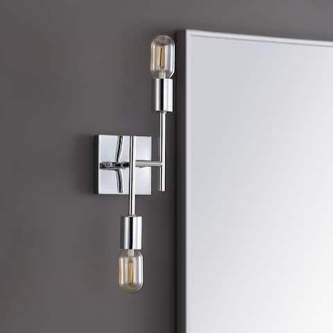"Turing 18.7"" 2-Light Metal LED Wall Sconce, Chrome by JONATHAN Y"