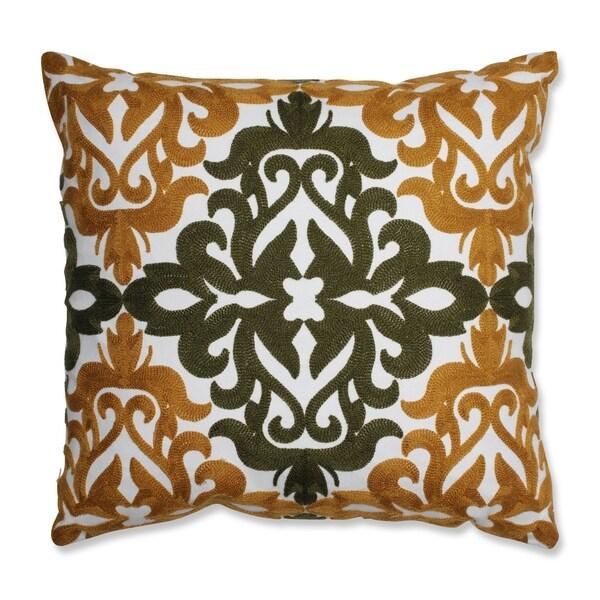 Pillow Perfect Jayne Mustard Green 18-inch Throw Pillow