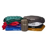 Travelwarm Packable Nylon Down Alternative Indoor/ Outdoor Blanket Full/ Queen Size in Blue (As Is Item)