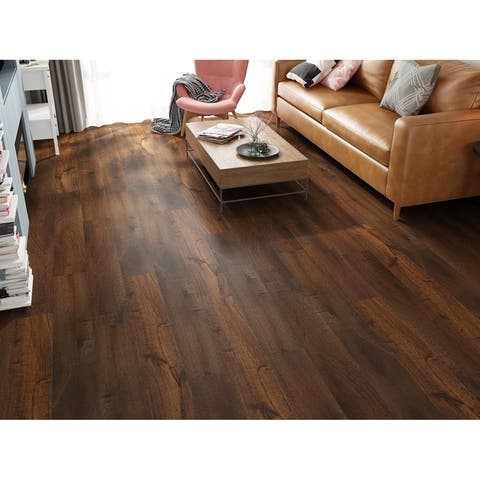 "7.68"" Wide Honey Laminate Flooring (20.40 SF/Carton)"