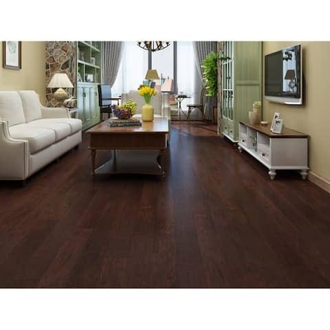"4.96"" Wide Wild Cherry Laminate Flooring (19.77 SF/Carton)"