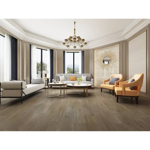"""7.68"""" Wide Titanium Laminate Flooring (20.40 SF/Carton)"""