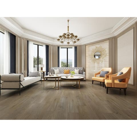 "7.68"" Wide Titanium Laminate Flooring (20.40 SF/Carton)"
