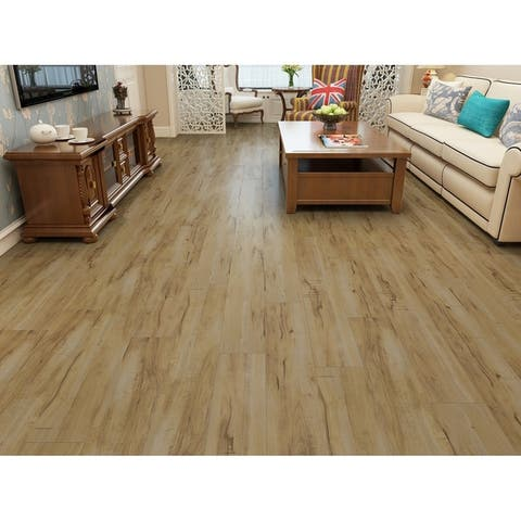 "7.68"" Wide Natural Laminate Flooring (25.51 SF/Carton)"