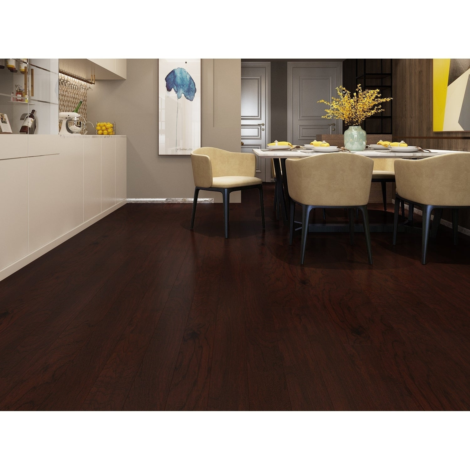 Shop Black Friday Deals On Caramel Finish Engineered Hickory Wood Flooring 19 68 Sq Ft Carton On Sale Overstock 27543922
