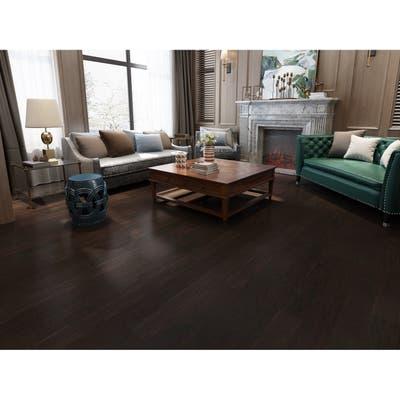 Coffee Finish Engineered Hickory Wood Flooring (19.69 Sq. Ft/Carton)