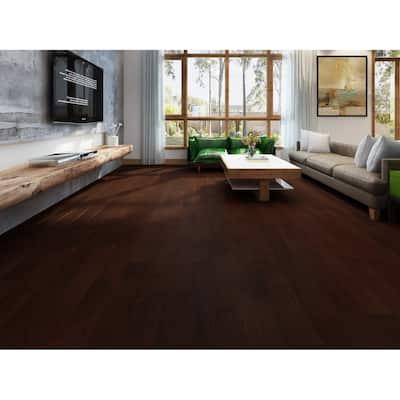 Mocha Finish Engineered Hickory Wood Flooring (20.02 Sq. Ft/Carton)