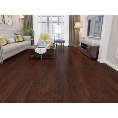 Mocha Finish Engineered Hickory Wood Flooring (26.68 Sq. Ft/Carton)
