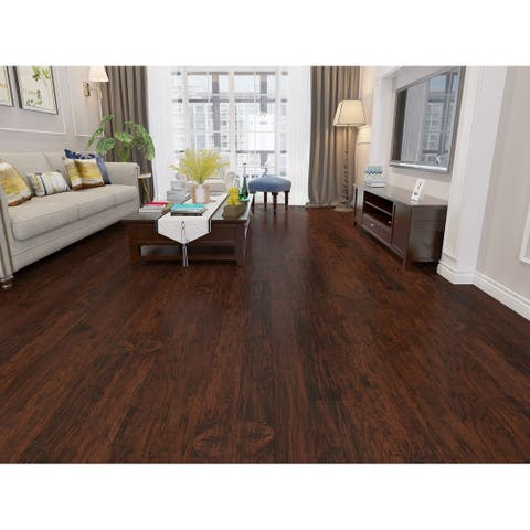 Mocha Finish Engineered Hickory Wood Flooring (26.68 Sq. Ft/Carton)