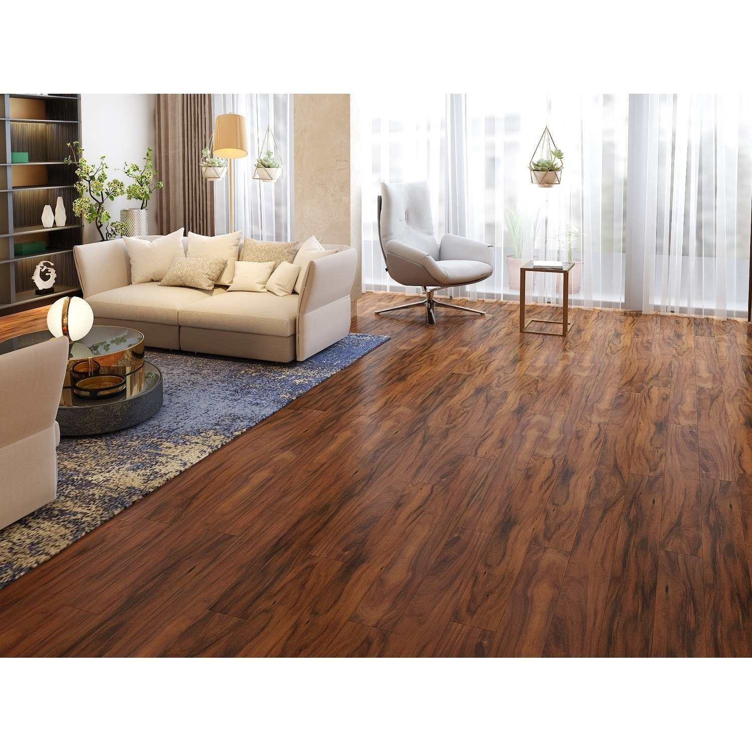 Shop Natural Finish Engineered Acacia Wood Flooring 19 69 Sq Ft
