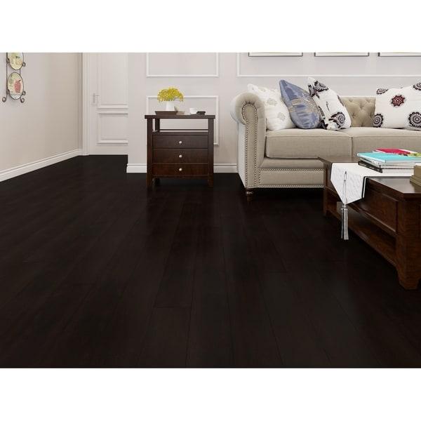 Black Finish Engineered Acacia Wood Flooring (19.69 Sq. Ft/Carton). Opens flyout.