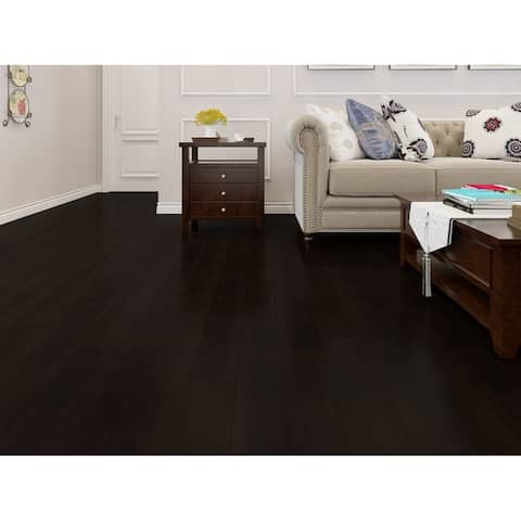 Black Finish Engineered Acacia Wood Flooring (19.69 Sq. Ft/Carton)
