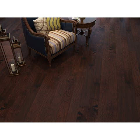 Whiskey Finish Engineered Hickory Wood Flooring (19.68 Sq. Ft/Carton)