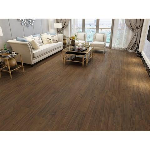 Teak Finish WPC Vinyl Plank Flooring (33.64 Sq. Ft/Carton)