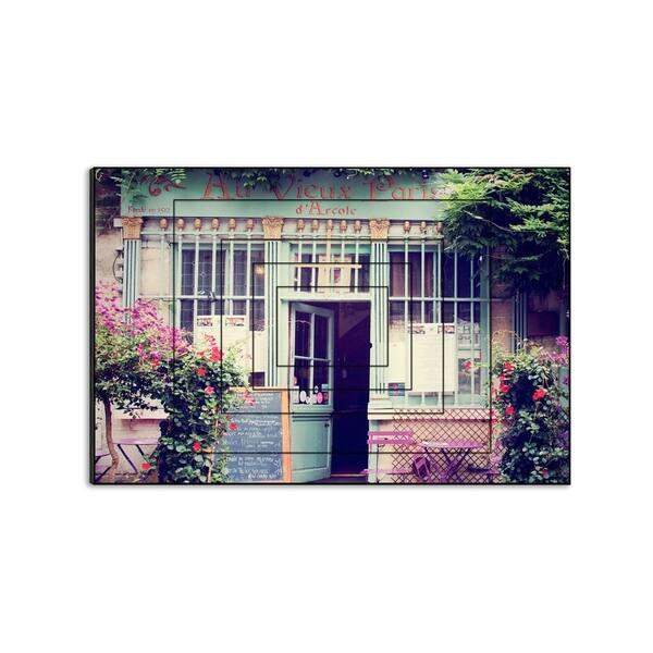 best cheap f5534 a5eac HashtagDecor Au Vieux Paris - Laura Marshall, Rustic Shop Window, Paris  Street, Print on Wood - Multi-Color