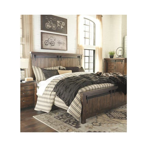 Lakeleigh Rustic Panel Bed.