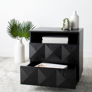 Safavieh Couture Patty 2 Drawer Nightstand - Black